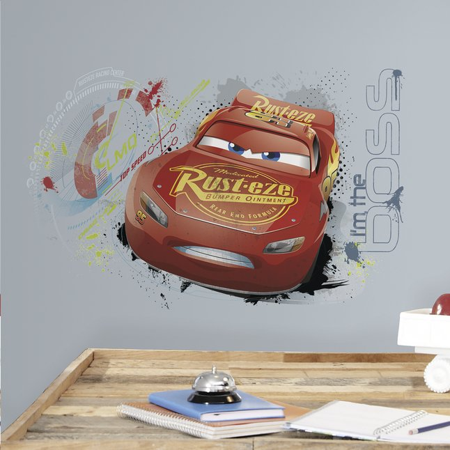 Afbeelding van Muursticker Disney Cars 3 Lightning McQueen from ColliShop