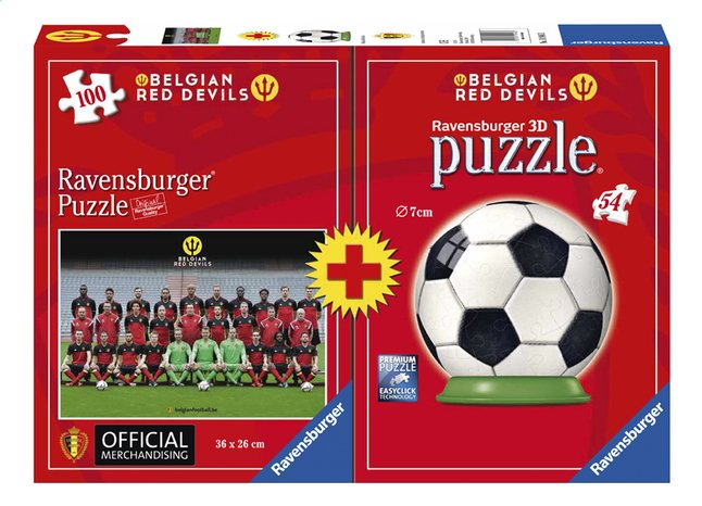 Afbeelding van Ravensburger puzzel Belgian Red Devils Team + puzzleball from ColliShop