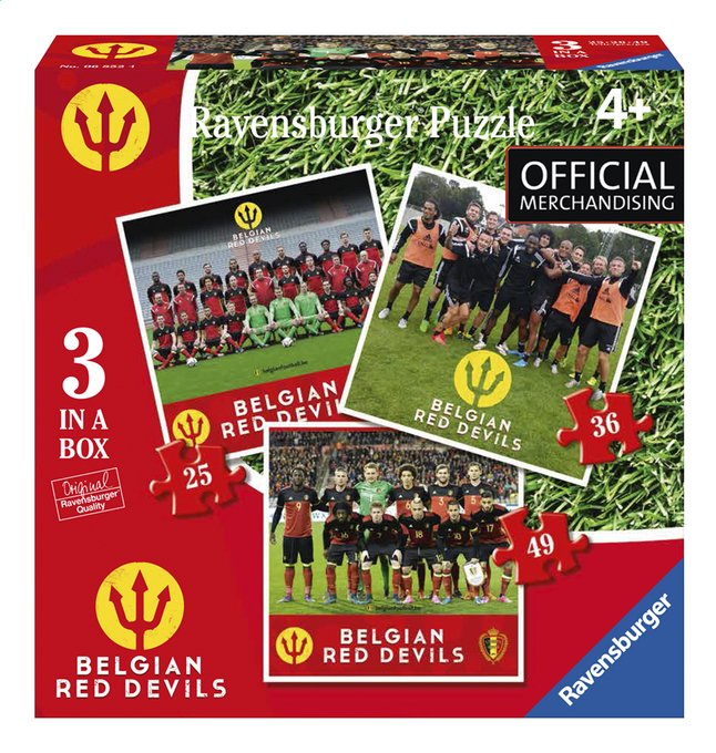 Afbeelding van Ravensburger puzzel 3-in-1 Belgian Red Devils from ColliShop
