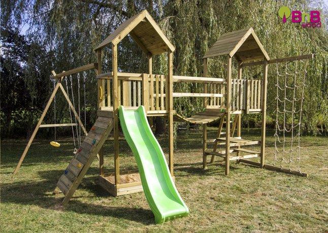 Image pour BnB Wood portique Nieuwpoort Duo Adventure vert pomme à partir de ColliShop