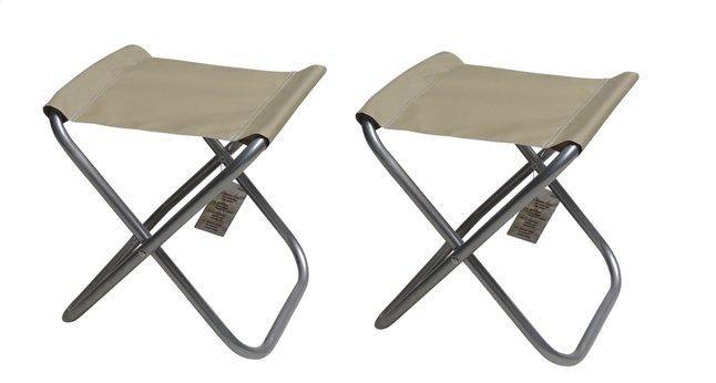 Image pour Set de 2 tabourets de camping beige à partir de ColliShop