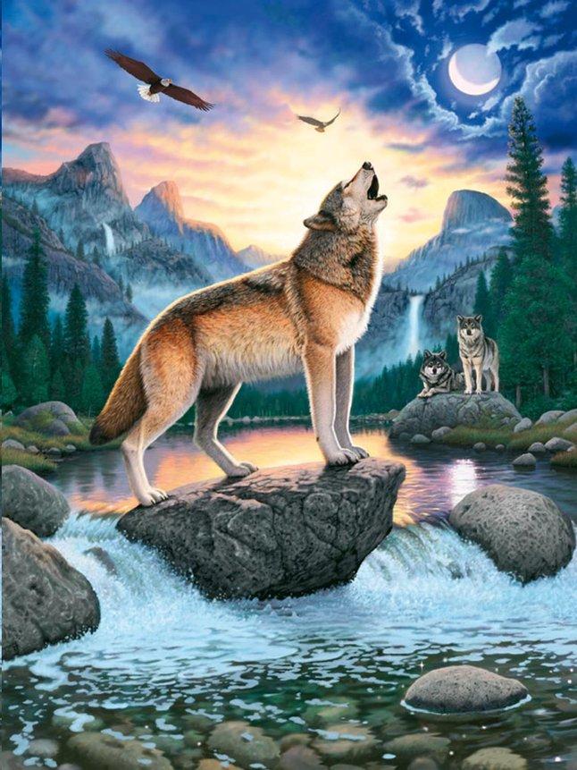 Image pour Ravensburger puzzle L'appel des loups à partir de ColliShop