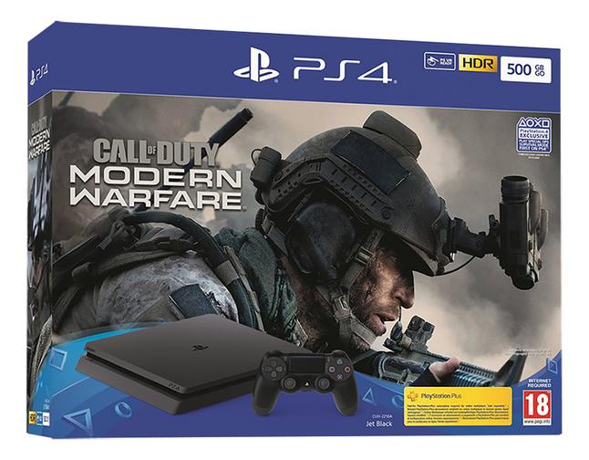 PS4 Slim 500 Go +  Call of Duty Modern Warfare