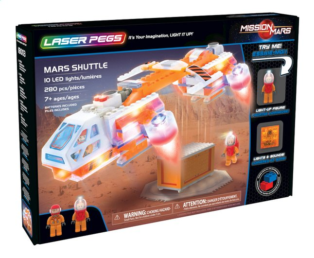 Laser Pegs Mission Mars Shuttle