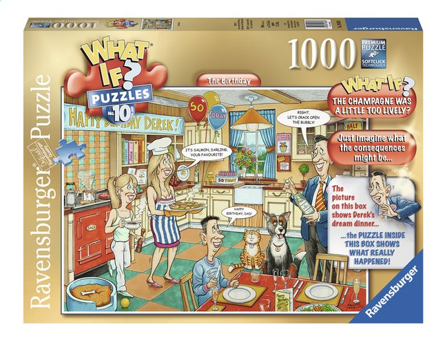 Afbeelding van Ravensburger puzzel What if? The Birthday from ColliShop