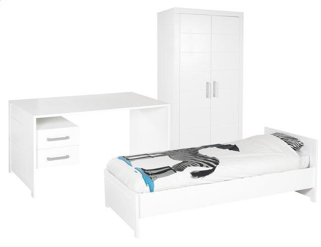 Afbeelding van 3-delige kamer Marika met kleerkast met 2 deuren from ColliShop