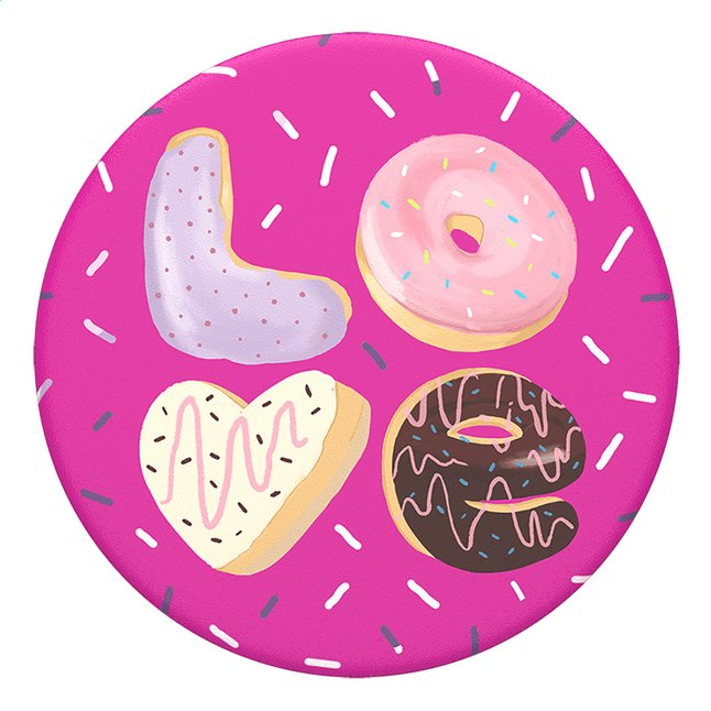 Afbeelding van PopSockets Phone grip Love Donut from ColliShop