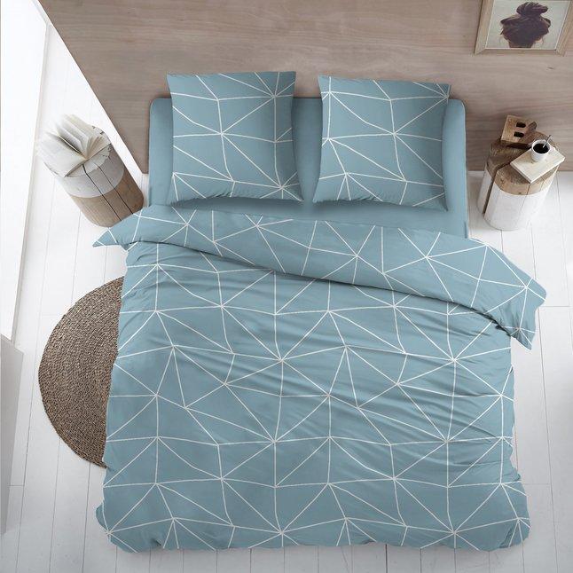 Afbeelding van Home Style Dekbedovertrek Denmark flanel blue from ColliShop