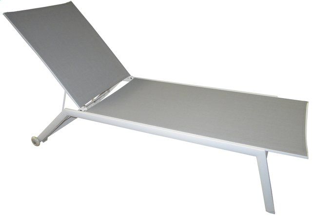 Image pour Transat Hydra gris clair/blanc à partir de ColliShop
