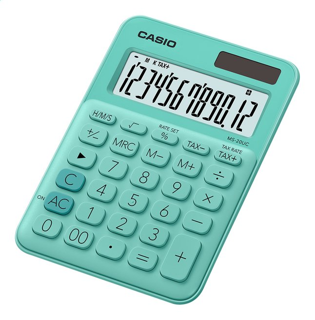 Afbeelding van Casio rekenmachine Colorful MS-20UC lichtgroen from ColliShop