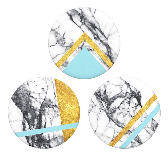 PopSockets Phone grip Popminis White Marble 3 pc