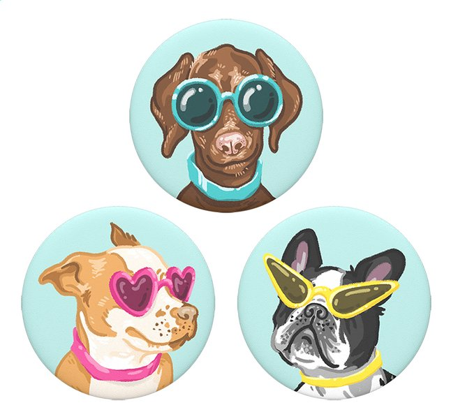 Afbeelding van PopSockets Phone grip Popminis Posh Pups 3st from ColliShop