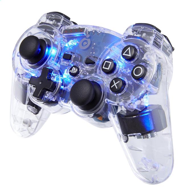 Afbeelding van bigben draadloze controller voor PS3 transparant/blauw from ColliShop