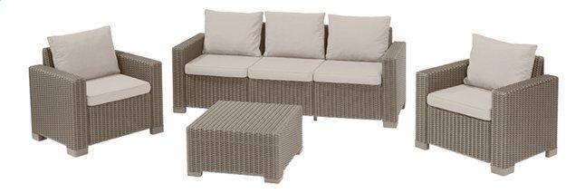 Image pour Allibert Ensemble Lounge avec canapé 3 places California cappuccino sand à partir de ColliShop
