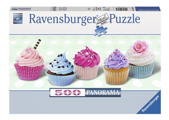 Image pour Ravensburger puzzle panorama Cupcakes savoureux à partir de ColliShop
