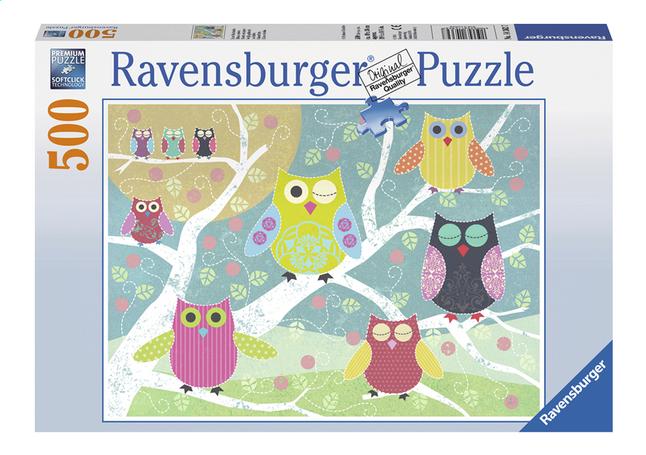Image pour Ravensburger puzzle Hiboux colorés à partir de ColliShop