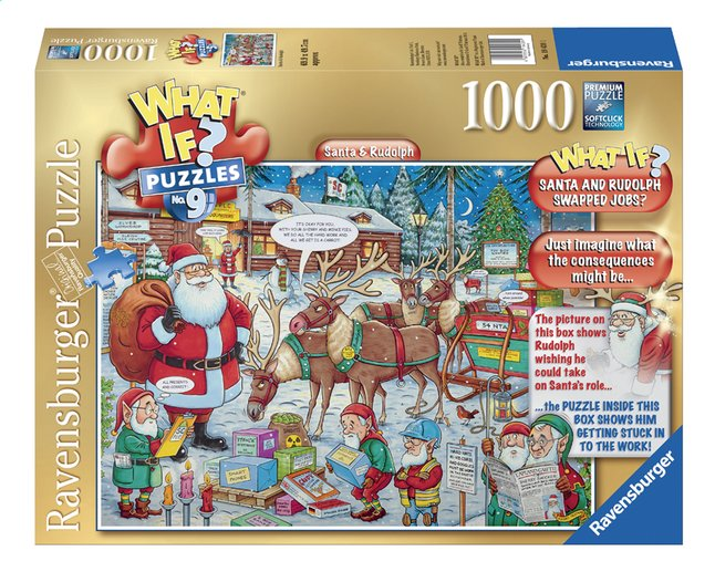 Afbeelding van Ravensburger puzzel What if? Santa & Rudolph from ColliShop