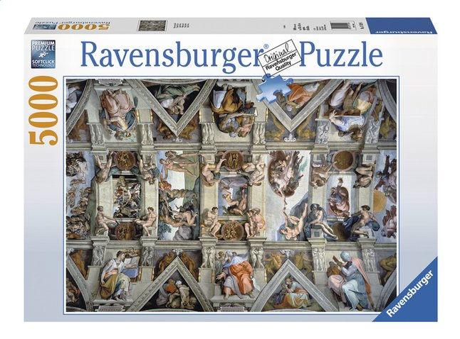 Afbeelding van Ravensburger puzzel De Sixtijnse kapel from ColliShop