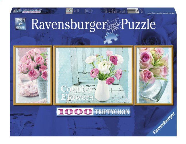 Afbeelding van Ravensburger puzzel Triptychon Country Flowers from ColliShop