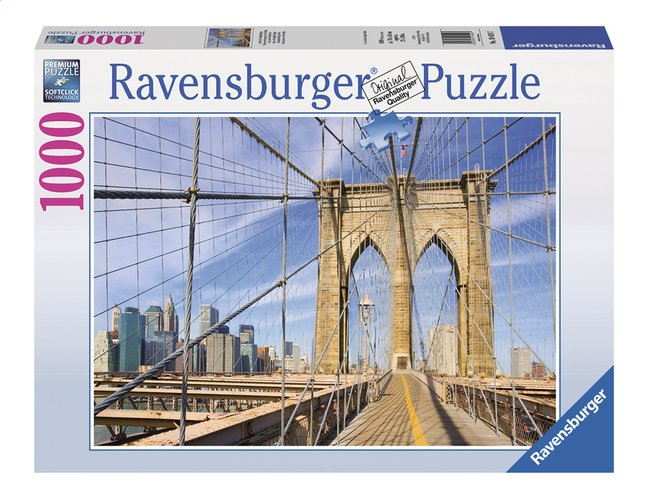 Afbeelding van Ravensburger puzzel Op de Brooklyn Bridge from ColliShop
