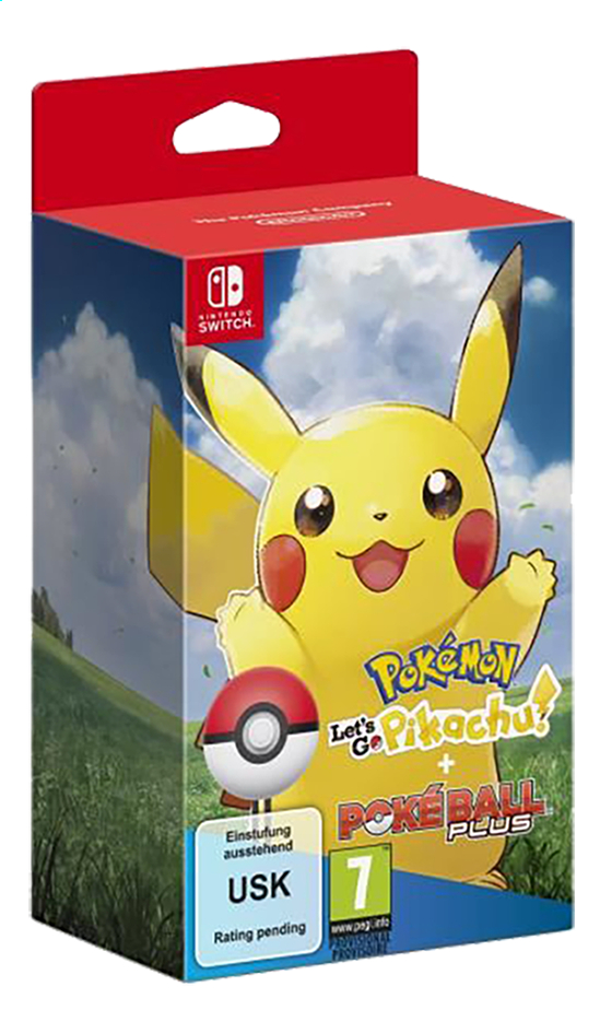 Afbeelding van Nintendo Switch Pokémon Let's go Pikachu + Poké Ball Plus ENG/FR from ColliShop