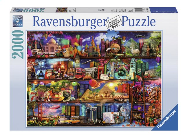 Image pour Ravensburger puzzle Le monde des livres à partir de ColliShop