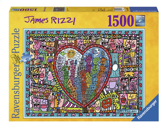 Afbeelding van Ravensburger puzzel James Rizzi All that love from ColliShop