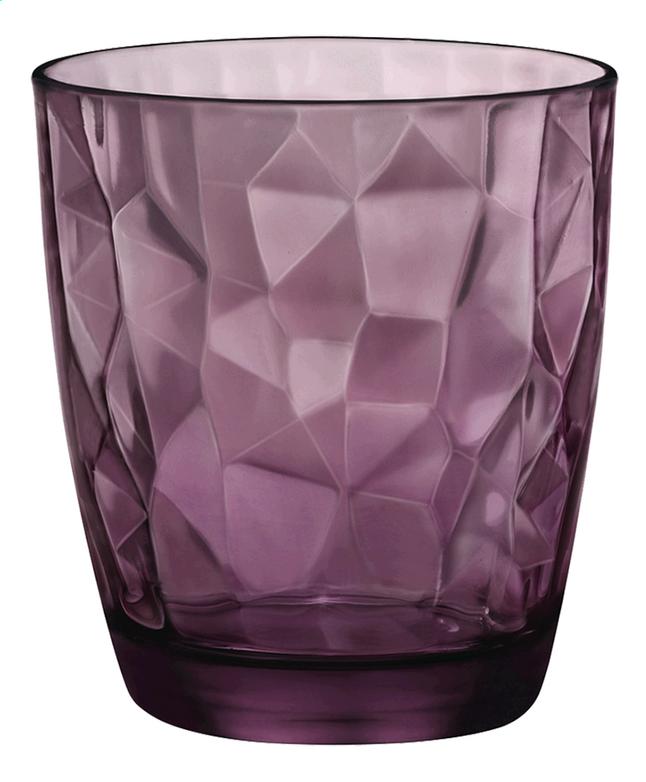 Bormioli Rocco 6 waterglazen Diamond Tumbler 30 cl paars