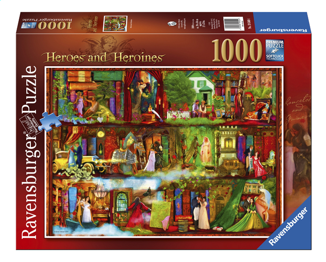Afbeelding van Ravensburger puzzel Heroes and Heroines from ColliShop