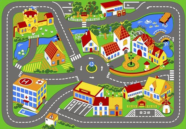 Afbeelding van Verkeerstapijt Quiet Town 95 x 133 cm from ColliShop