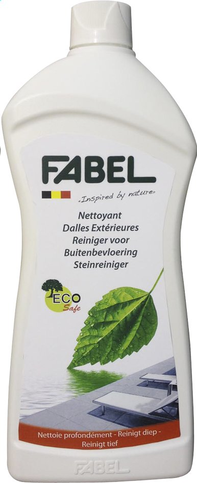 fabel nettoyant pour dalles ext rieures eco safe 1 l collishop. Black Bedroom Furniture Sets. Home Design Ideas