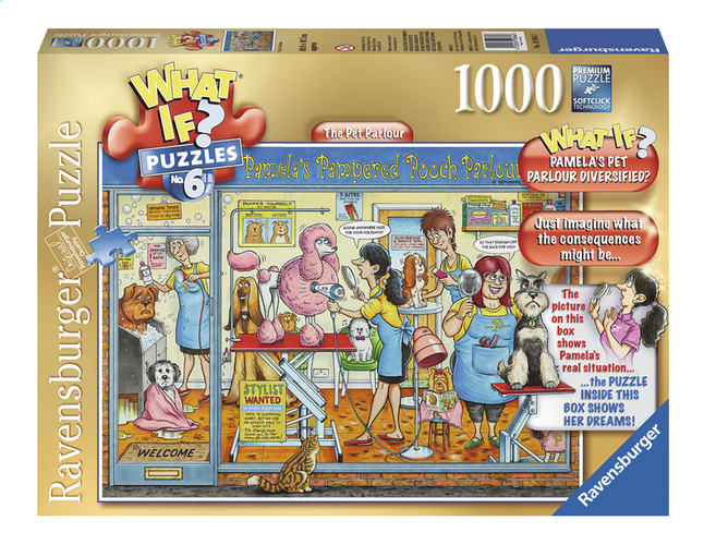 Afbeelding van Ravensburger puzzel What if? The Pet Parlour from ColliShop