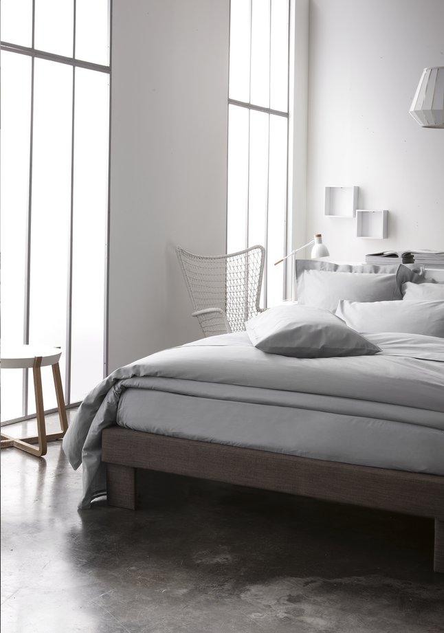 Image pour Housse de couette Uni coton gris clair à partir de ColliShop