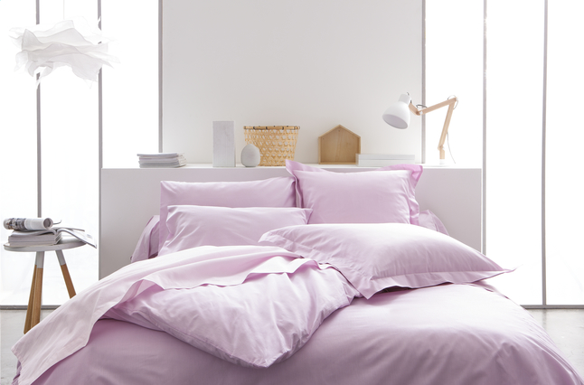Image pour Housse de couette Uni coton lilas à partir de ColliShop