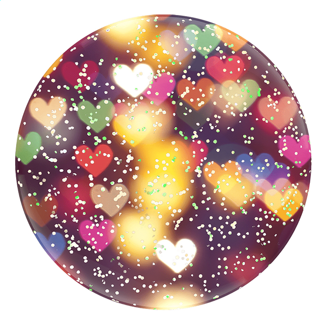 Afbeelding van PopSockets Phone grip Glitter Bokeh Hearts from ColliShop