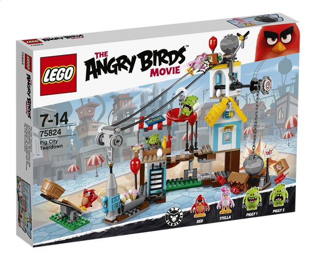 Image pour LEGO Angry Birds 75824 La démolition de Cochon Ville à partir de ColliShop