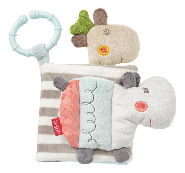 Fehn jouet à suspendre - livre en tissu Loopy & Lotta