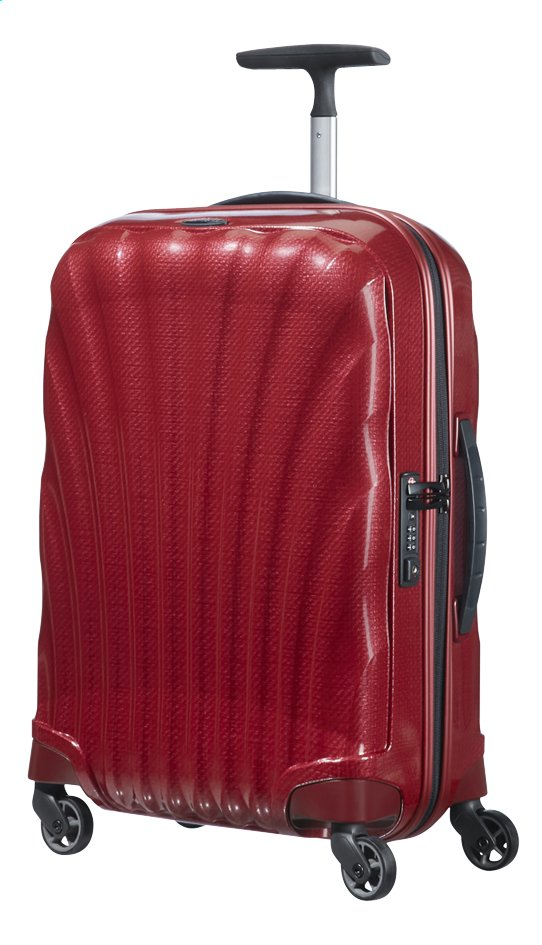 Afbeelding van Samsonite Harde reistrolley Cosmolite 3.0 Spinner red 55 cm from ColliShop