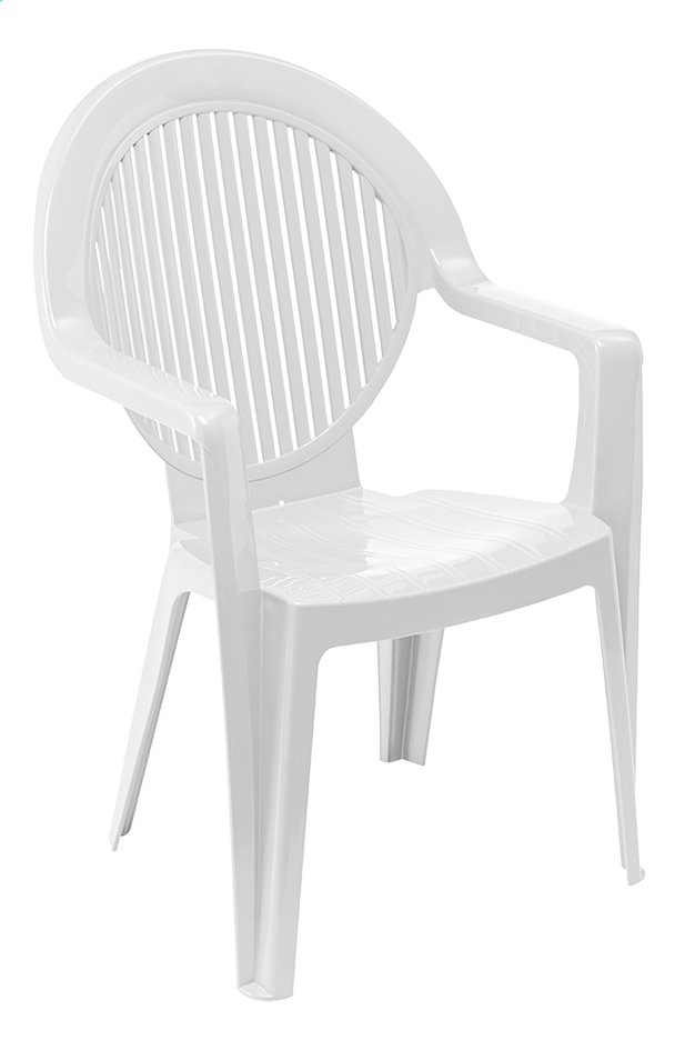 Grosfillex chaise de jardin Fidji blanc | ColliShop