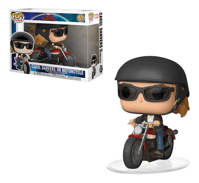 Afbeelding van Funko Pop! figuur Captain Marvel - Carol Danvers on motorcycle from ColliShop