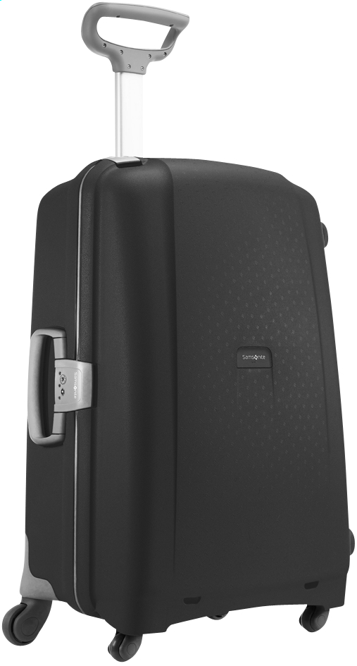Afbeelding van Samsonite Harde reistrolley Aeris Spinner black 75 cm from ColliShop