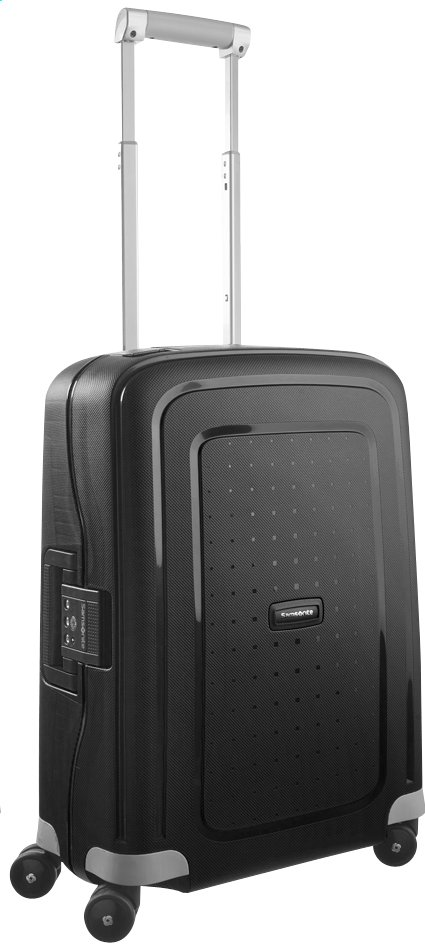 Afbeelding van Samsonite Harde reistrolley S'Cure Spinner black 55 cm from ColliShop