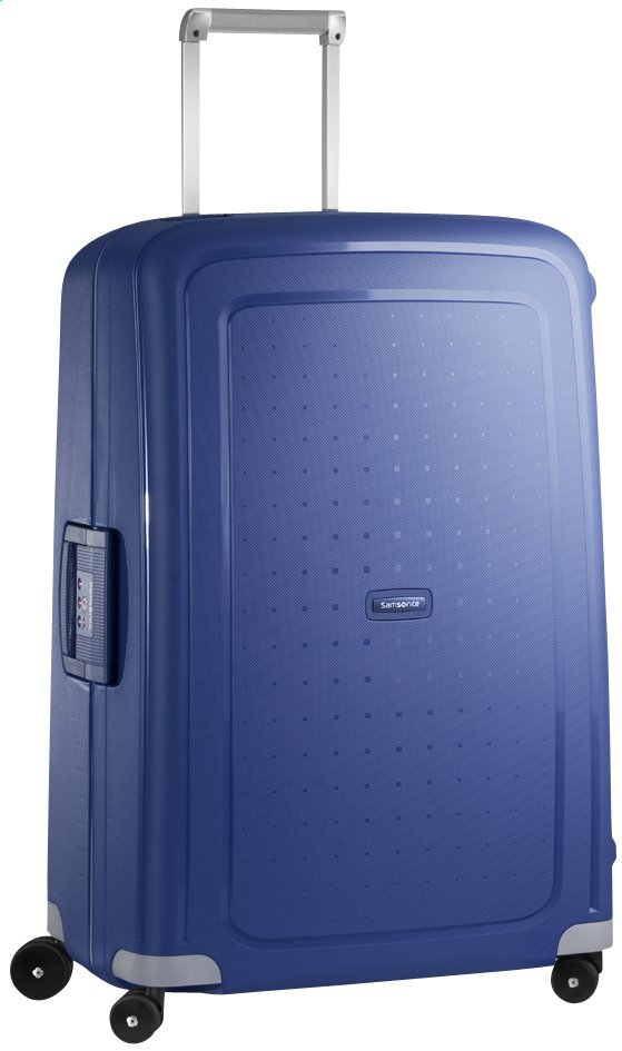Afbeelding van Samsonite Harde reistrolley S'Cure Spinner dark blue 75 cm from ColliShop