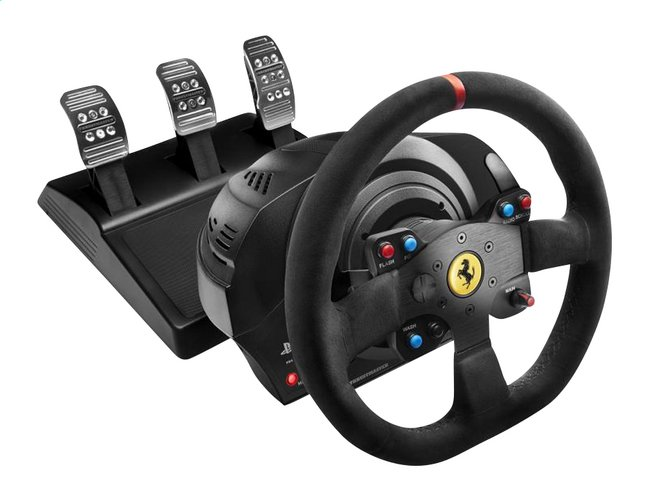thrustmaster volant de course avec p dales ps4 t300 ferrari integral racing wheel alcantara. Black Bedroom Furniture Sets. Home Design Ideas