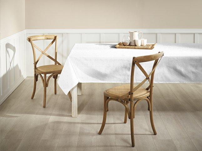 Image pour Mistral Home Nappe Grace blanc 240 x 140 cm à partir de ColliShop