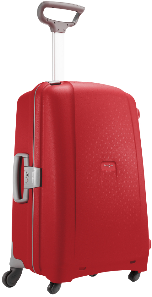 Afbeelding van Samsonite Harde reistrolley Aeris Spinner red 68 cm from ColliShop