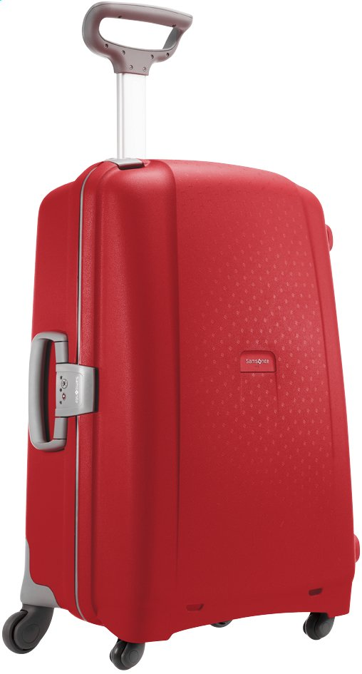 Afbeelding van Samsonite Harde reistrolley Aeris Spinner red 75 cm from ColliShop