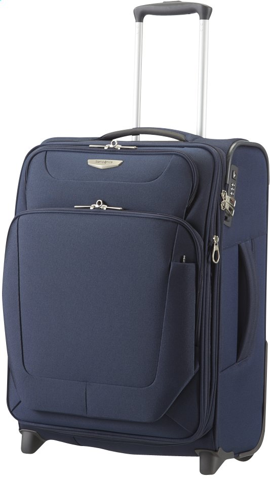 Image pour Samsonite Valise souple Spark Upright EXP dark blue 55 cm à partir de ColliShop